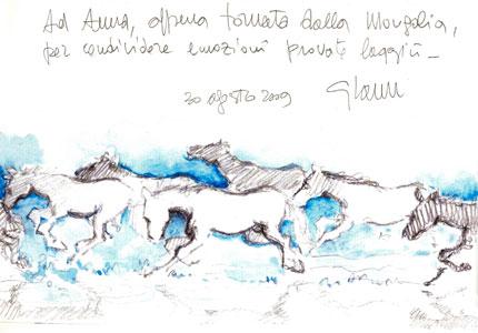 Mongolia disegno di Giovanni Cocco