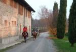 A cavallo accanto alla Cassinazza
